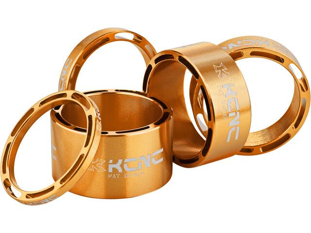 """KCNC Hollow Design Entretoise de jeu de direction 1 1/8"""" 3/5/10/14/20mm, gold"""